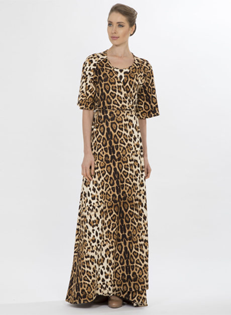 Stretch maxi cheetah print dress - House of Hend be85f40fc