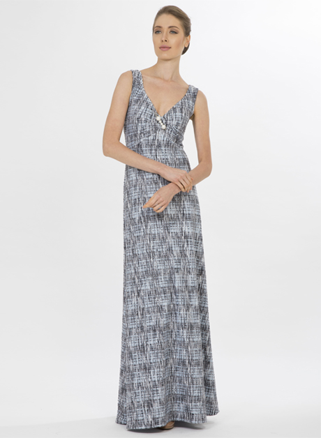Sleevles stretch with pin maxi dress - House of Hend 989b47b79